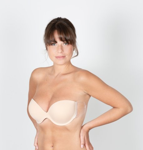 113 louvre bra nude adhesive fins naked back gilsa paris worn face