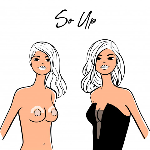 313 illustration x2 So up gilsa paris self-adhesive nipple cover with push-up effect ideal for bare back, bustier, plunging neckline outfits