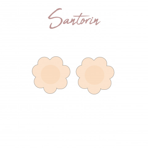 Adhesive nipple Satorin Gilsa paris second skin effect braless effect invisible under fine clothes