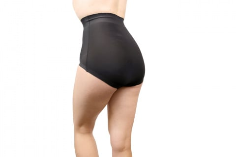 402 invisible high waist panty panty slim black gilsa paris worn on the back