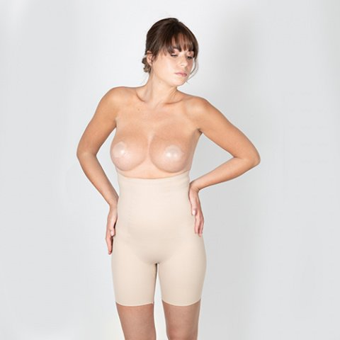 302 gilsa paris skin effect second skin adhesive nipple cover + 421 victor skin fit high waist invisible shorts gilsa paris worn face