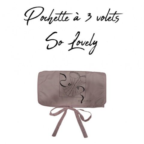 GILSA Paris So Lovely 3-fold pouch for storing delicate lingerie