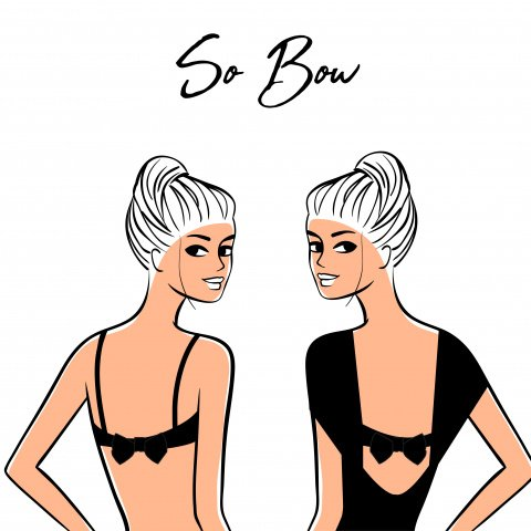 The so bow knot will dress the back of the bra